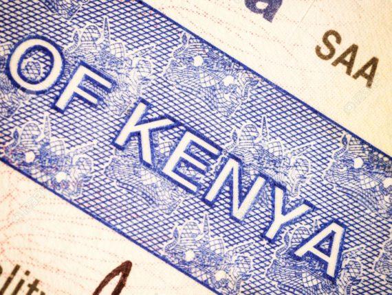 Detail of Kenya visa applied on passport